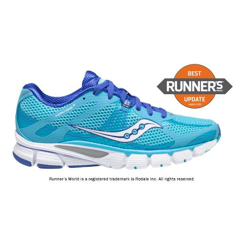 Womens Saucony ProGrid Mirage 3 Running Shoe - Blue/White 10