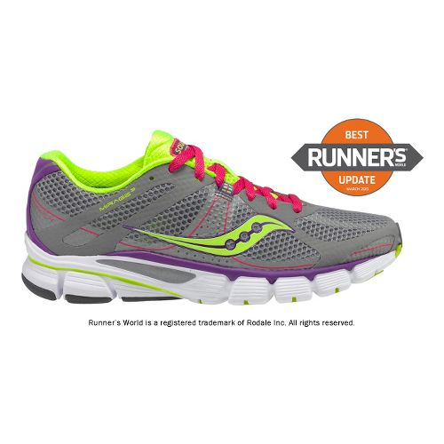 Womens Saucony ProGrid Mirage 3 Running Shoe - Grey/Pink 7