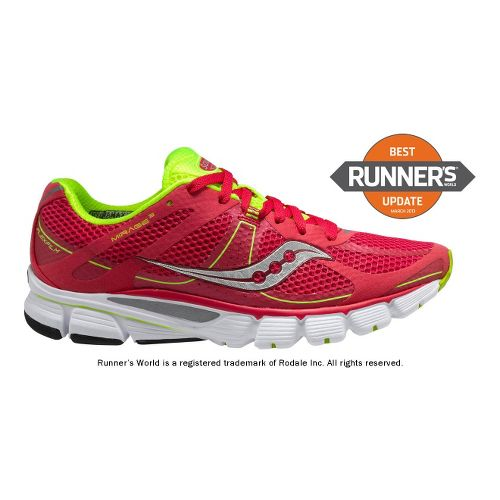 Womens Saucony ProGrid Mirage 3 Running Shoe - Pink/Citron 10