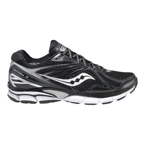 Mens Saucony PowerGrid Hurricane 15 Running Shoe - Black/White 12