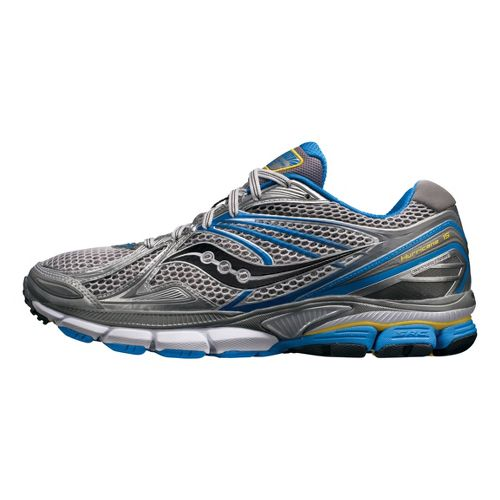 Mens Saucony PowerGrid Hurricane 15 Running Shoe - Silver/Blue 12.5