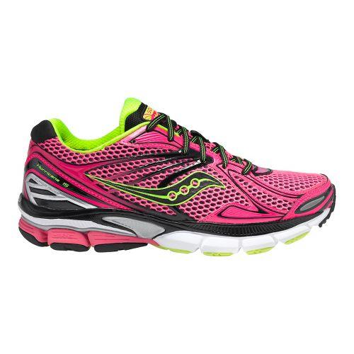 Womens Saucony PowerGrid Hurricane 15 Running Shoe - Pink/Citron 10