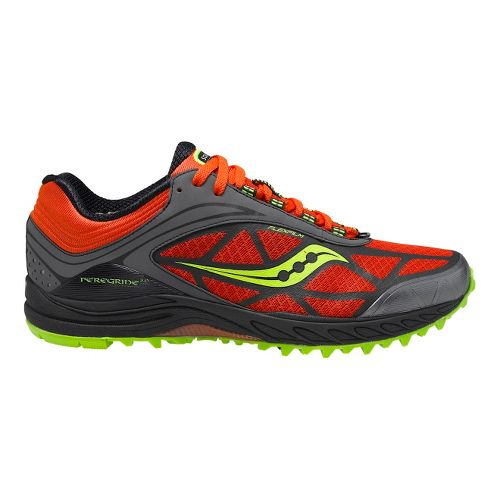 Mens Saucony ProGrid Peregrine 3 Trail Running Shoe - Orange/Black 12.5