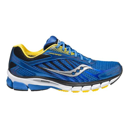 Mens Saucony Ride 6 Running Shoe - Blue/Yellow 9.5