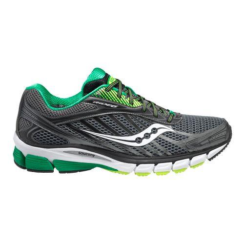 Mens Saucony Ride 6 Running Shoe - Grey/Green 12.5