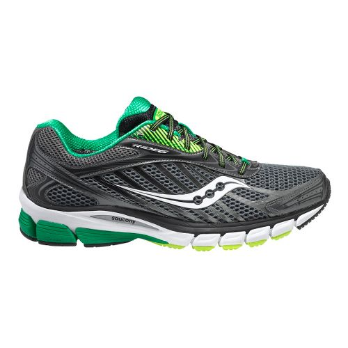 Mens Saucony Ride 6 Running Shoe - Grey/Green 12.5