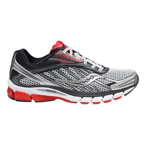 Mens Saucony Ride 6 Running Shoe - White/Red 11.5