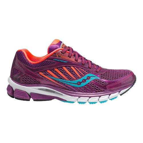 Womens Saucony Ride 6 Running Shoe - Berry/Coral 7