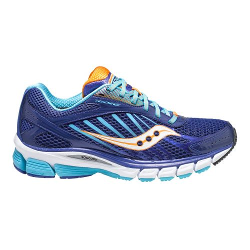 Womens Saucony Ride 6 Running Shoe - Blue/Orange 11.5