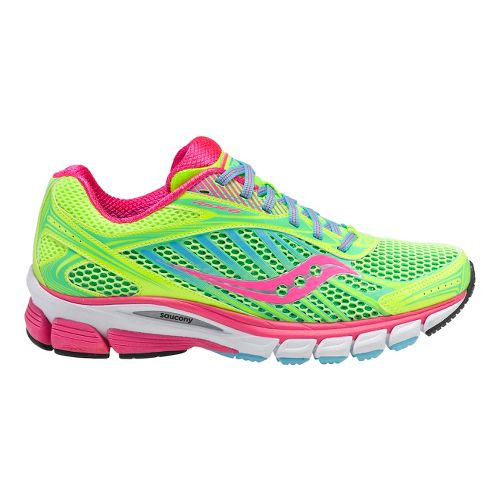 Womens Saucony Ride 6 Running Shoe - Citron/Pink 7