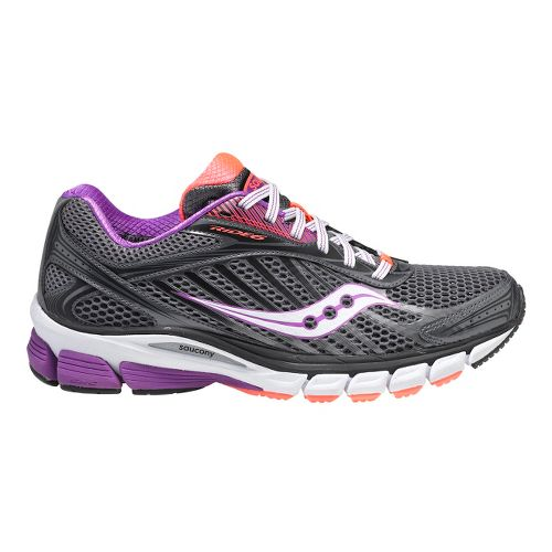 Womens Saucony Ride 6 Running Shoe - Grey/Purple 9.5