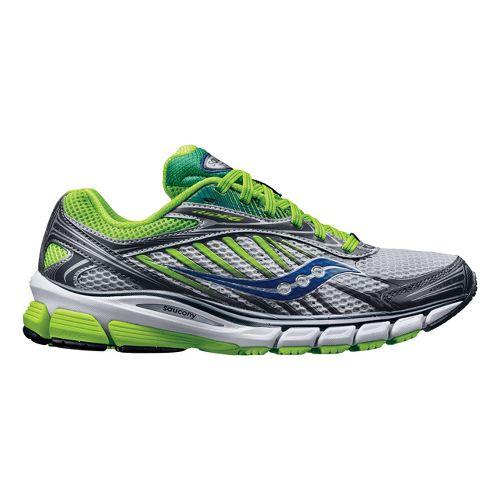 Womens Saucony Ride 6 Running Shoe - Silver/Green 8.5