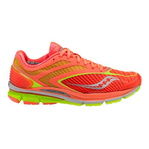 Womens Saucony Cortana 3 Running Shoe - Coral/Citron 10.5