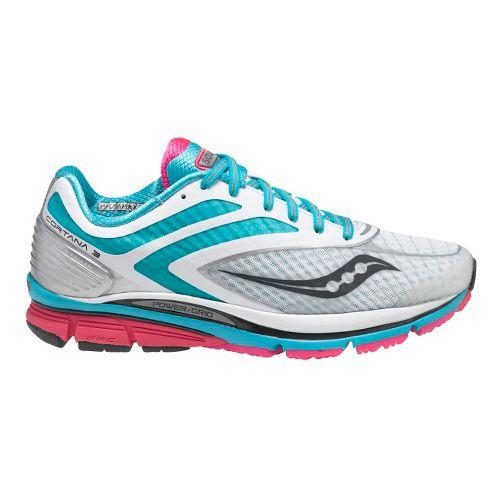 Womens Saucony Cortana 3 Running Shoe - White/Pink 8.5