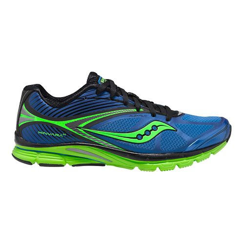 Mens Saucony Kinvara 4 Running Shoe - Blue/Black 15