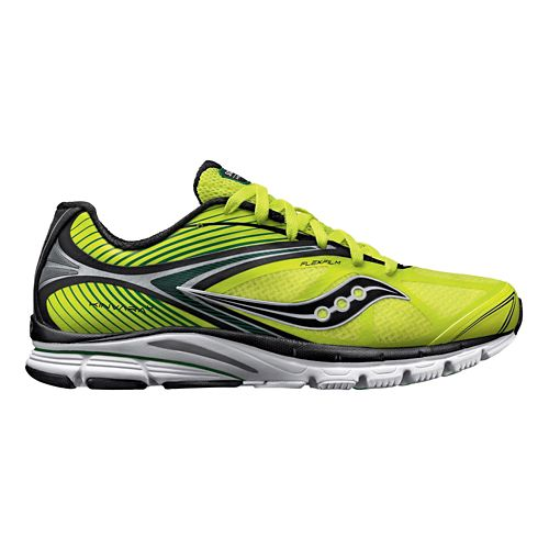 Mens Saucony Kinvara 4 Running Shoe - Citron/Black 8.5