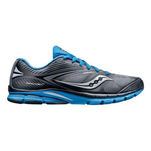 Mens Saucony Kinvara 4 Running Shoe - Grey/Blue 12