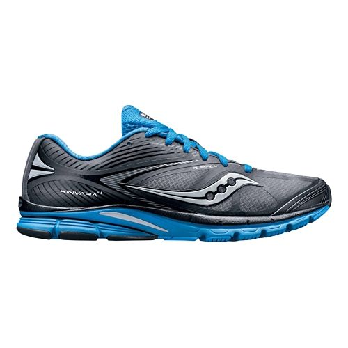 Mens Saucony Kinvara 4 Running Shoe - Grey/Blue 12.5