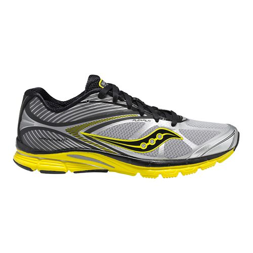 Mens Saucony Kinvara 4 Running Shoe - Grey/Yellow 8.5