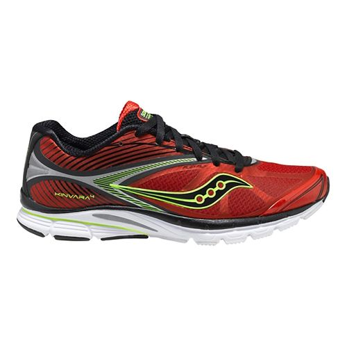 Mens Saucony Kinvara 4 Running Shoe - Red/Black 10.5