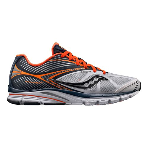 Mens Saucony Kinvara 4 Running Shoe - White/Navy 8.5