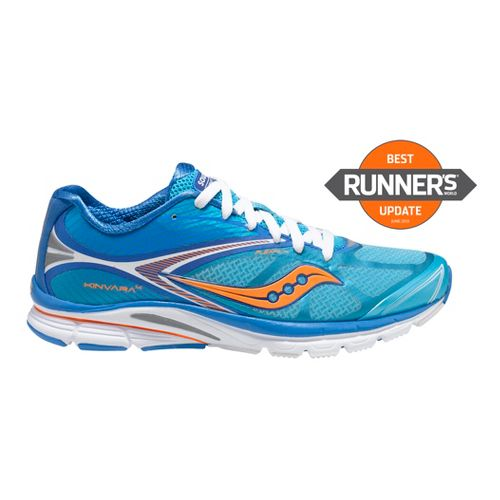 Womens Saucony Kinvara 4 Running Shoe - Blue/Orange 9