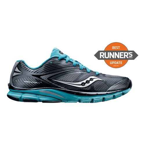 Womens Saucony Kinvara 4 Running Shoe - Grey/Blue 9.5