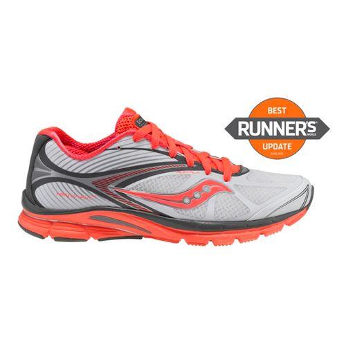 Womens Saucony Kinvara 4 Running Shoe - White/Grey 5.5