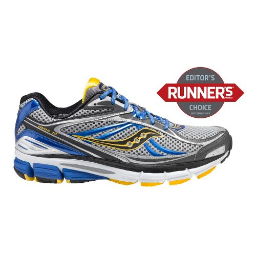 Mens Saucony Omni 12 Running Shoe - Grey/Blue 12.5