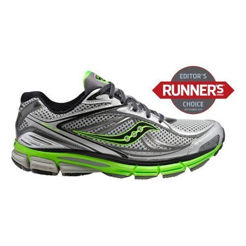 Mens Saucony Omni 12 Running Shoe - Silver/Green 12