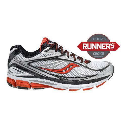 Mens Saucony Omni 12 Running Shoe - White/Black 9