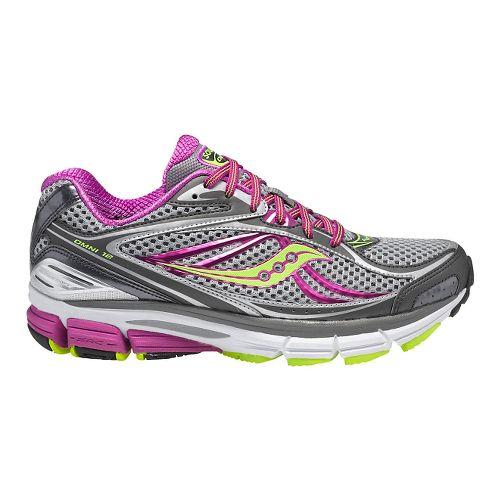 Womens Saucony Omni 12 Running Shoe - Grey/Purple 10.5