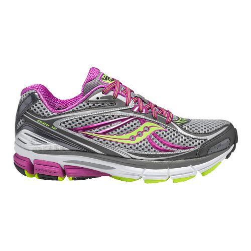 Womens Saucony Omni 12 Running Shoe - Grey/Purple 7.5