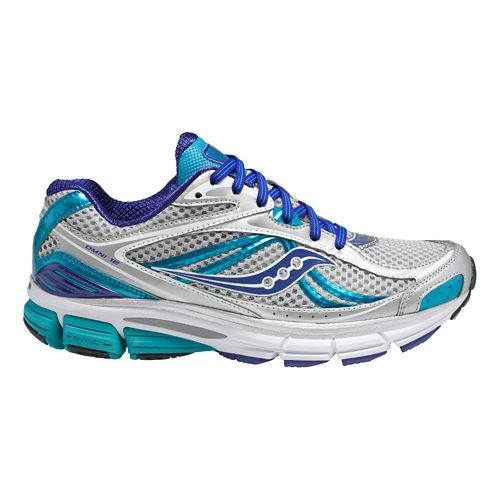 Womens Saucony Omni 12 Running Shoe - Silver/Blue 5.5
