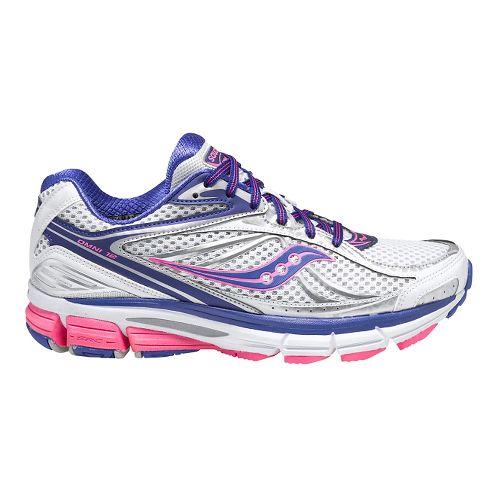 Womens Saucony Omni 12 Running Shoe - White/Pink 7.5