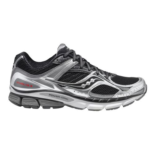 Mens Saucony Stabil CS3 Running Shoe - Black/Grey 7