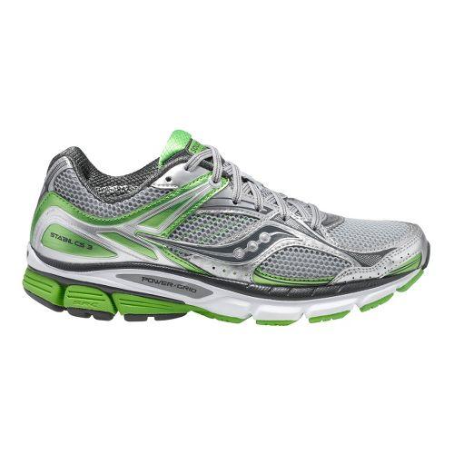 Womens Saucony Stabil CS3 Running Shoe - Silver/Grey 9.5