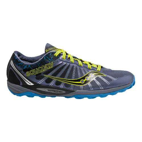 Mens Saucony Kinvara TR2 Trail Running Shoe - Grey/Yellow 9