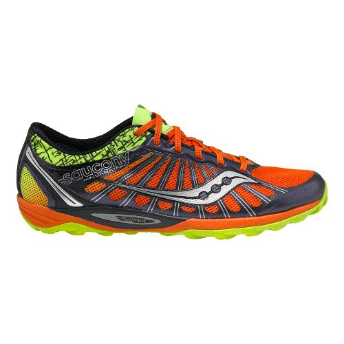 Mens Saucony Kinvara TR2 Trail Running Shoe - Navy/Orange 12