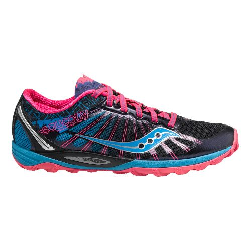 Womens Saucony Kinvara TR2 Trail Running Shoe - Black/Blue 6.5