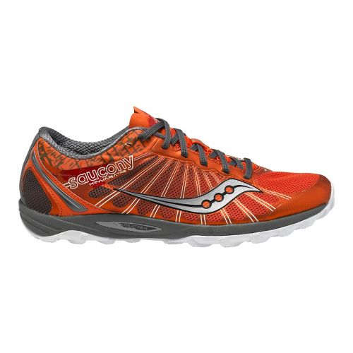Womens Saucony Kinvara TR2 Trail Running Shoe - Red/Grey 8.5