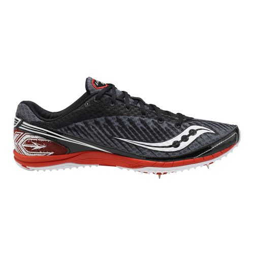 Mens Saucony Kilkenny XC5 Spike Cross Country Shoe - Black/Red 7.5