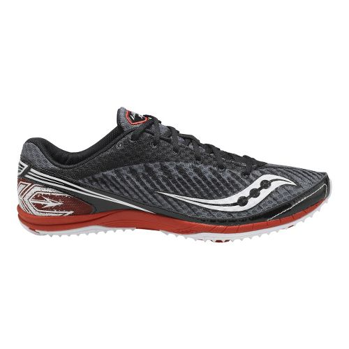 Mens Saucony Kilkenny XC5 Flat Cross Country Shoe - Black/Red 12.5