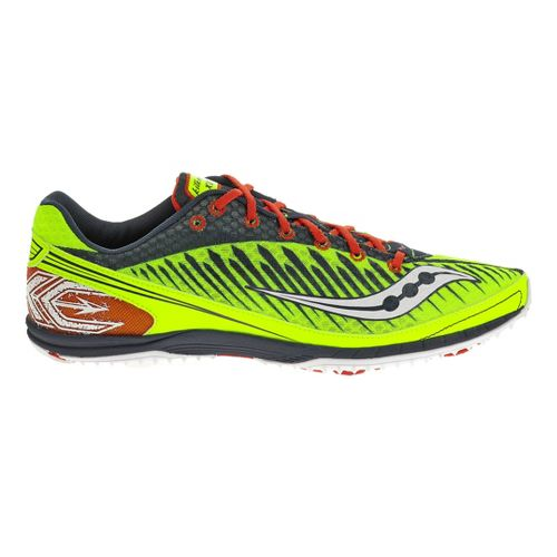 Mens Saucony Kilkenny XC5 Flat Cross Country Shoe - Citron 9