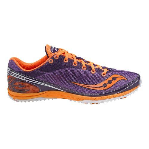 Womens Saucony Kilkenny XC5 Flat Cross Country Shoe - Purple/Orange 7.5