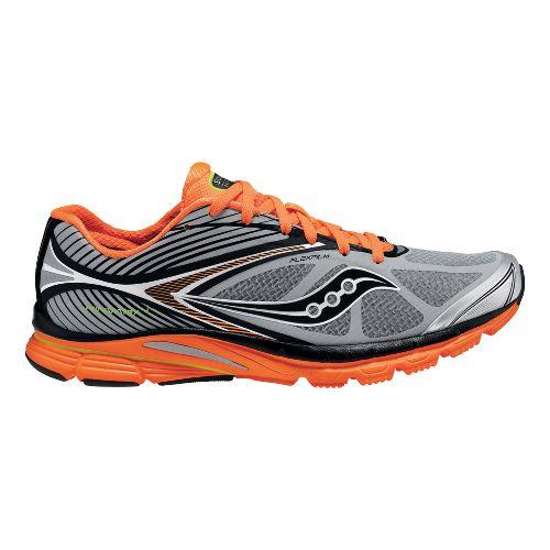 Mens Saucony Kinvara 4 ViZiGLO Running Shoe - Silver/Orange 14