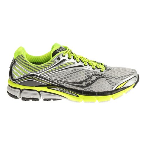 Mens Saucony Triumph 11 Running Shoe - Silver/Black 9