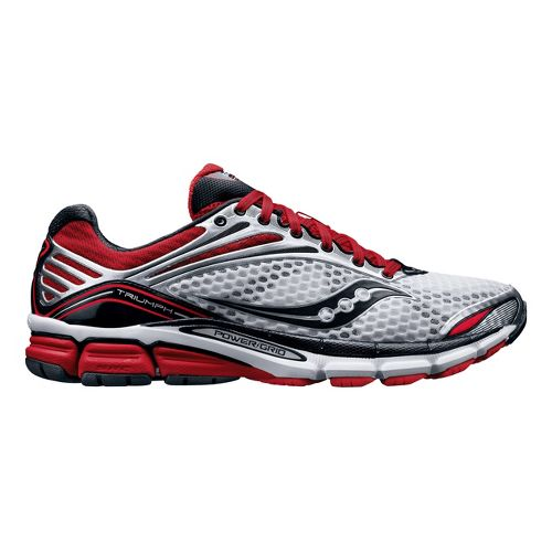 Mens Saucony Triumph 11 Running Shoe - White/Red 8