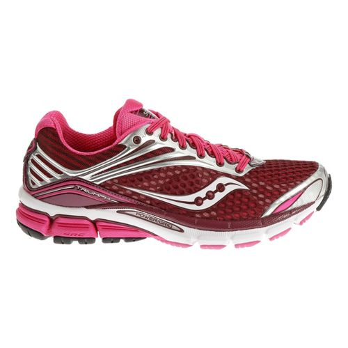 Womens Saucony Triumph 11 Running Shoe - Berry/Vizipink 10.5