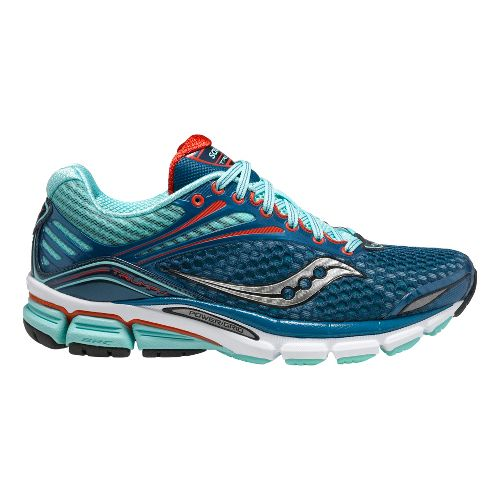 Womens Saucony Triumph 11 Running Shoe - Blue/Red 5